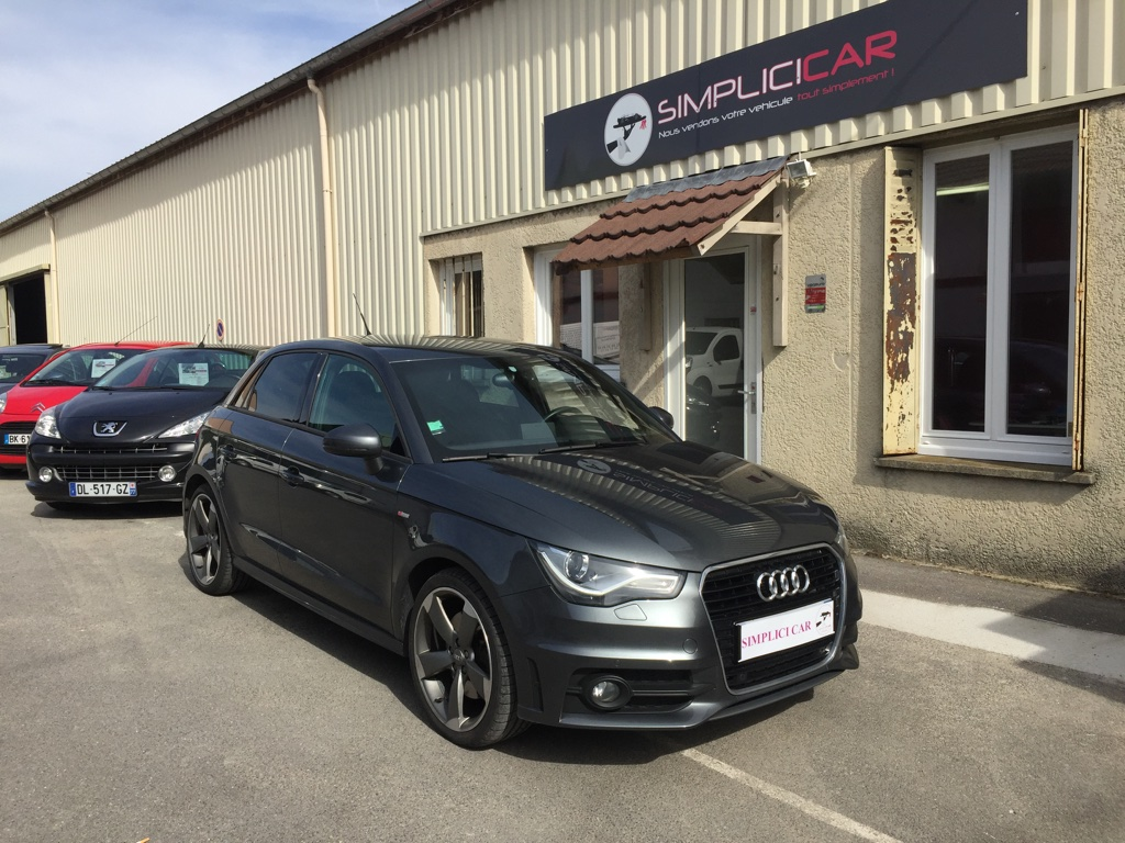 voiture audi a1 sportback 2 0 tdi 143 s line occasion diesel 2013 82200 km 17490. Black Bedroom Furniture Sets. Home Design Ideas